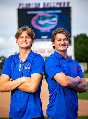 Brothers Jud, right, a third year player for the Florida Gators, and Deric, left, an incoming freshman on the Gator baseball team, Fabian look to be selected in the 2021 MLB Draft.