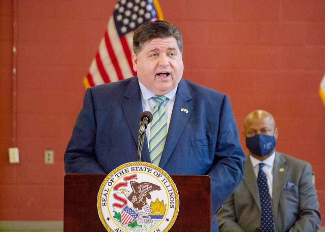 Gov. JB Pritzker is pictured in a file photo at an event in Springfield earlier this month.