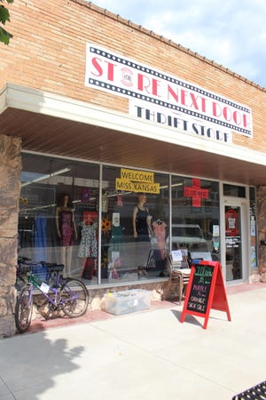Merchandise changes weekly at The Store Next Door in Pratt, attracting a steady flow of customers on Thursdays, Fridays and Saturdays during open hours.