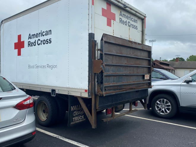 A Red Cross truck parked at Alliance Elks on Thursday, July 9, 2020.
