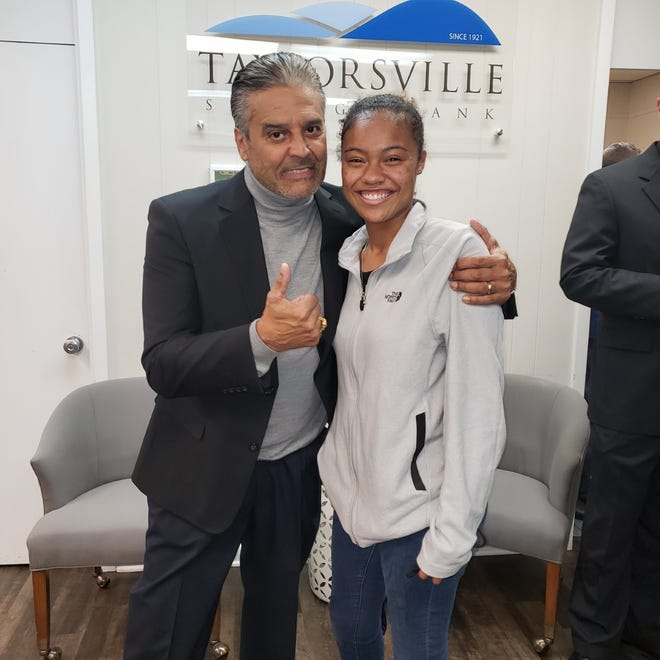 Janaya Glenn poses with actor Erik Estrada. Glenn is getting the chance to work on a major television show this summer.