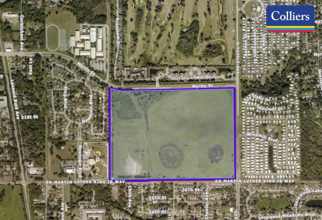 This 114-plus acre site at 2501 Dr. Martin Luther King Way has been earmarked for an affordable housing development.