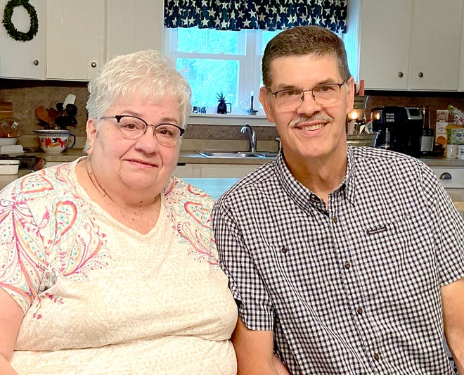 Margie and Tom Klein at home. They are retiring after working for many years for the U.S. Postal Service.