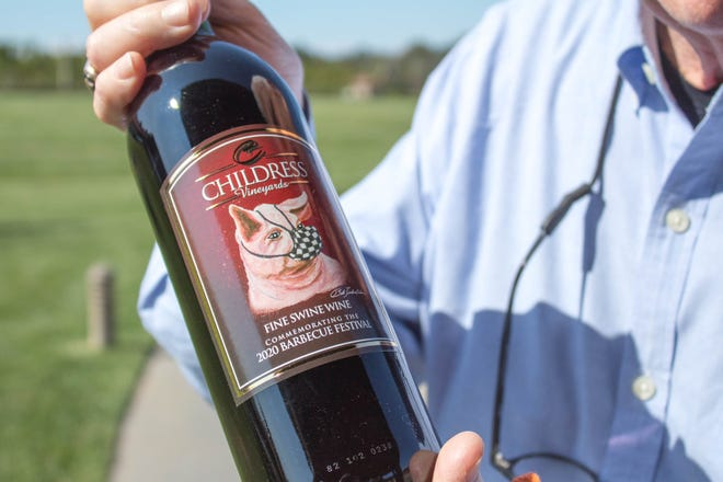 The 2020 vintage of Fine Swine Wine from Childress Vineyards in Lexington, N.C.