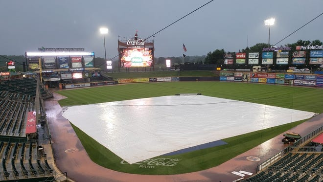 Thursday night's game between the Worcester Red Sox and Lehigh Valley IronPigs was rained out.