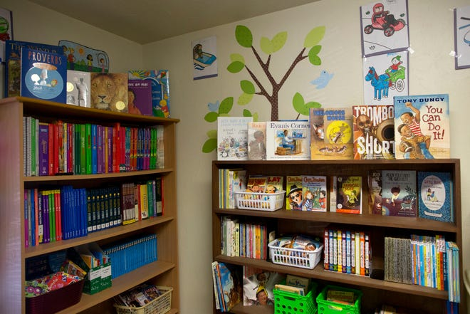 The reading room at the Pine Ridge Community Center in Gainesville. The center is a safe place for kids of the community to go after school.
