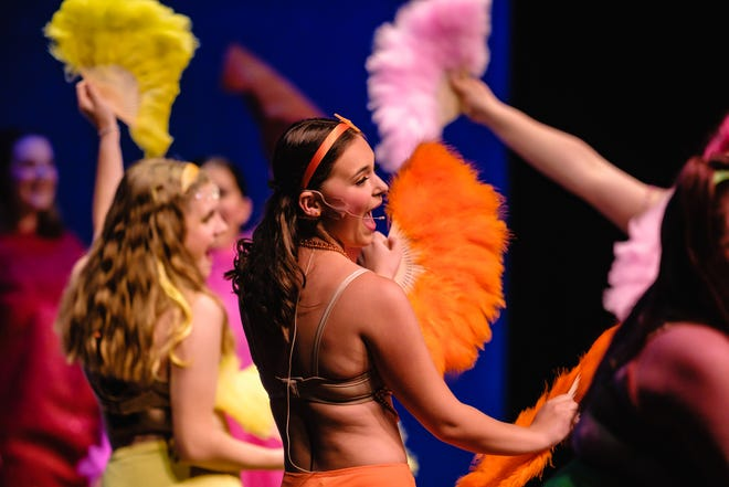 """Cast members perform Disney's """"The Little Mermaid,"""" presented by The Little Theatre of Tuscarawas County, performed at Dover High School, Thursday, July 8, 2021."""