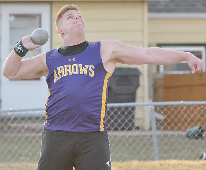 Cooper Mack, a 2021 Watertown High School graduate, has been named the Gatorade South Dakota Boys Track and Field Athlete of the Year. Mack, the first Arrow to ever win the honor, set school records in the shot put and discus and also swept both events at the state Class AA meet in May.