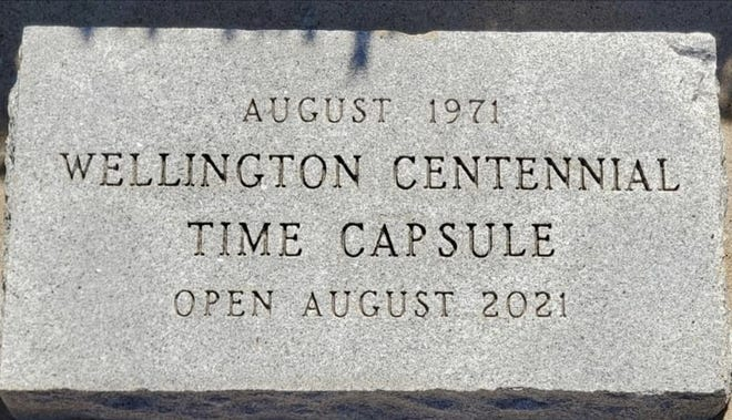 Wellington centennial time capsule from 1971