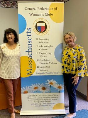 """Kathleen """"Katie"""" Robey, Marlborough City Councilor, is serving as the GFWC Massachusetts director of junior clubs 2020-22. She has been a  member of the GFWC Marlborough Junior Woman's Club since 1996. In the photo, Robey, left, stands with GFWC MA President Donna Shibley."""