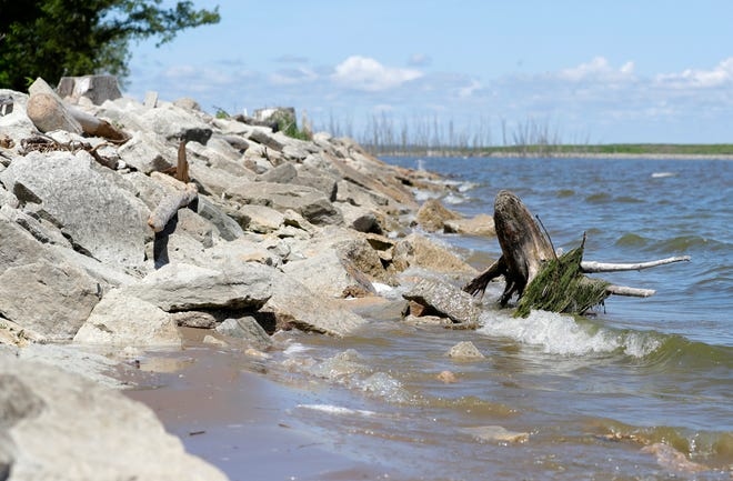 A 1,000-foot swimming beach will be built by the city along this shoreline at Bay Beach. Swimming ended in the 1940s because of water pollution, but is expected to return in 2023