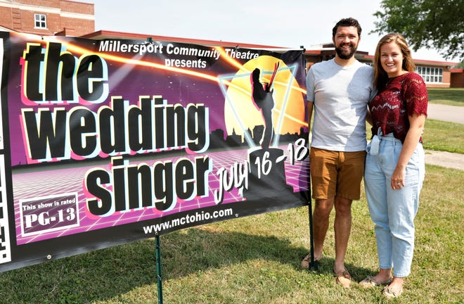 Brenton LeuVoy, left, and Johanna Whetstone-LeuVoy are leading the Millersport Community Theatre's production of the Wedding Singer July 16 through the 18. It will be the MCT's first musical in nine years.