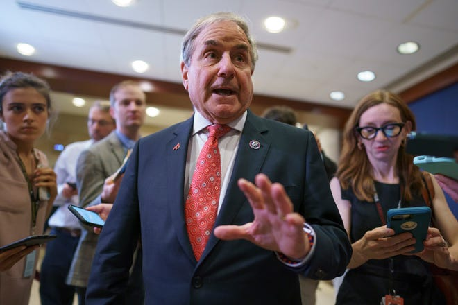 House Yarmouth Committee Chairman John Yarmouth, D-Ky., Held talks with reporters on June 15 after meeting with House Democratic Caucus and Biden administration officials to discuss the progress of the infrastructure bill at the Capitol in Washington.  (AP Photo / J. Scott Apple White, File)