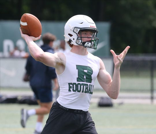 Ramapo quarterback Jack Grusser, in his second game for Ramapo after transferring from Bergen Catholic in February, had a huge game against Passaic. He was 16 of 24 passing for 360 yards and the five TDs