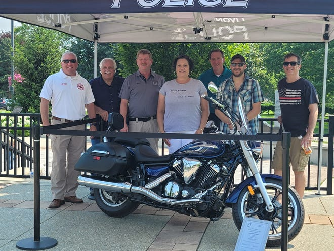 The new Livonia First Responder Foundation recently gave away a new Yamaha V Star motorcycle during its first fundraiser.