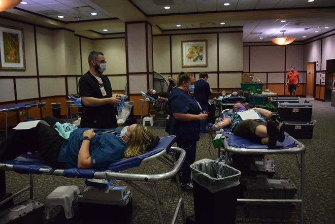 The Community Blood Center has named Reid Health a Crisis Hero for the blood supply for its continued hosting of blood drives, such as one July 6, during the COVID-19 pandemic.