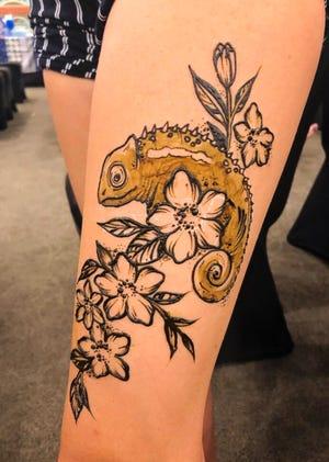 A Henna Harvest design.