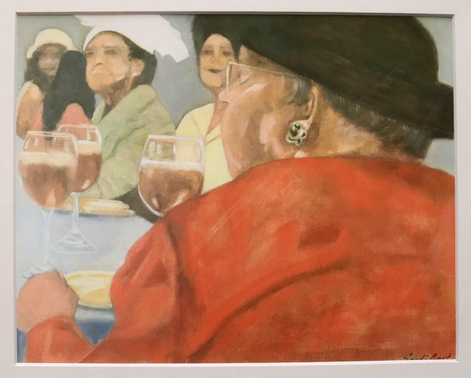 A piece by Wichita Falls artist Sandi Gant that was donated to Hospice of Wichita Falls and was available in a drawing and will soon be owned by one lucky member of the community.