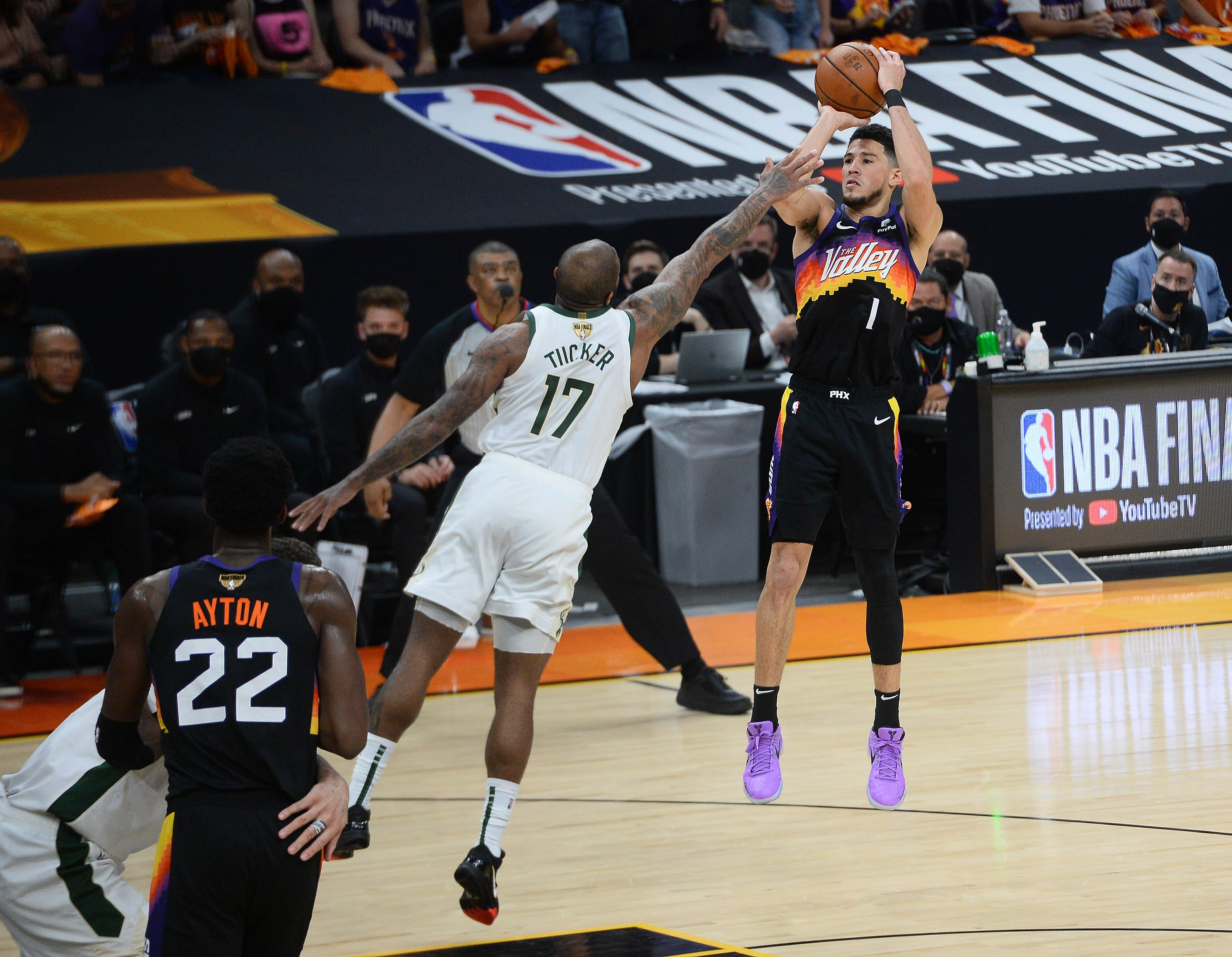 Hot-shooting Suns beat Bucks at home again for 2-0 lead in NBA Finals