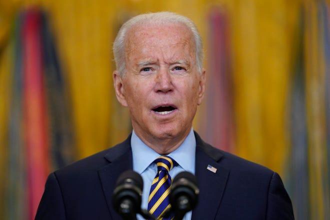 President Joe Biden speaks in the East Room of the White House, Thursday, July 8, 2021, in Washington.