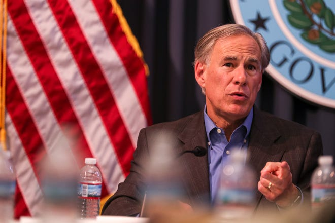 Gov. Greg Abbott, shown last month, has held firm on his opposition to local mask mandates and other government restrictions to rein in COVID-19.