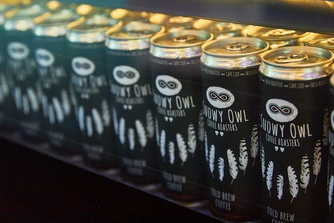 Drinks from Snowy Owl Coffee Roasters in Brewster now line the concession stand at Cape Cinema in Dennis.