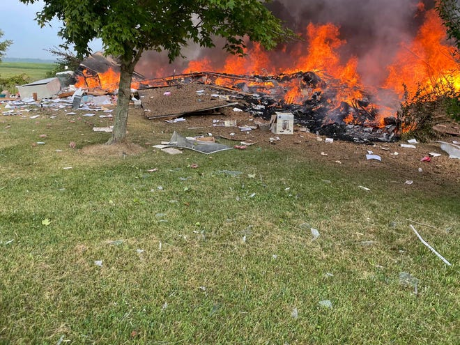 One person was killed and another injured following a suspected house explosion Saturday morning in Fayette County. The names of the two occupants involved had not been released yet Saturday by the Fayette County Sheriff's Office.