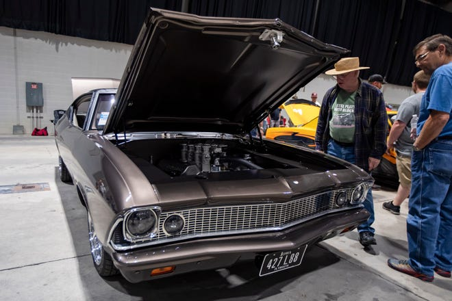 Mike Wells came from Le Mars, Iowa to enter his 1968 Chevrolet Chevelle in the Street Machine of the Year competition during the GoodGuys 23rd Summit Racing Nationals on Saturday at the Ohio Expo Center and Ohio State Fairgrounds in Columbus. The event began Friday and continues Sunday.