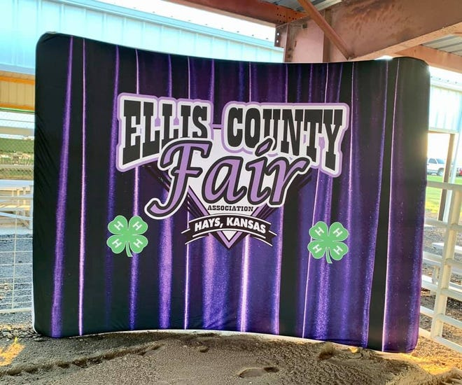 A new backdrop for livestock pictures at the Ellis County Fair.
