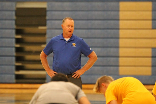 Hutchinson assistant principal and new assistant boys basketball coach Joe Hammersmith returns to coaching after 25 years as the principal and head boys basketball coach at Trinity Catholic.