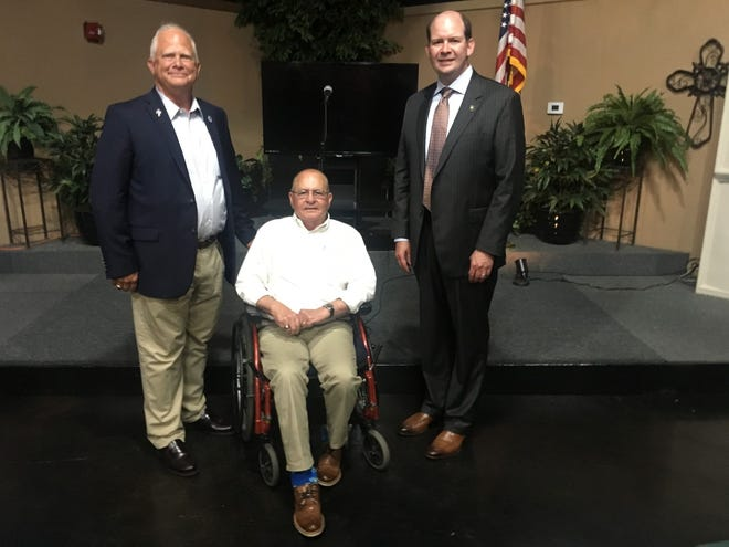Rep. Charles Owen, Rep. Dewith Carrier, and Senator Mike Reese spoke to the public about topics of local interest.
