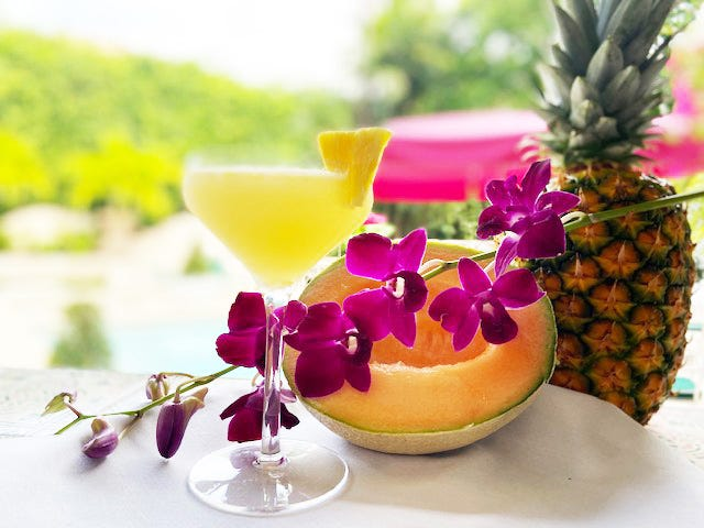 Pineapple-infused vodka is featured in the Fruit Basket, one of seven new summer cocktails at The Chesterfield.