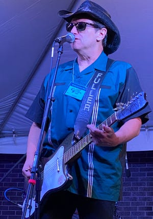 Ray Fuller performs Friday night at the Canton Blues Fest in downtown Canton. The event continues from noon to 11 p.m. Saturday.