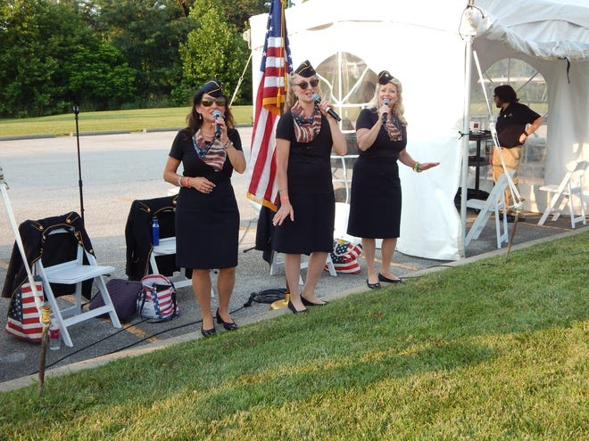 The Ladies of Liberty performed several times during the French Lick Resort's July 4th celebration.