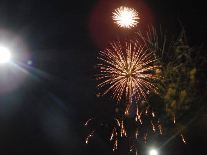 Fireworks during the French Lick Resort's celebration of July 4th were enjoyed by guests and local residents.