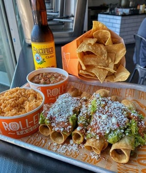 An example of some of the menu items offered by Roll-Em-Up Taquitos, a new chain coming to Victorville.