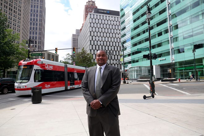 Mayoral candidate Art Tyus talks about his campaign in downtown  Detroit on July 09, 2021.