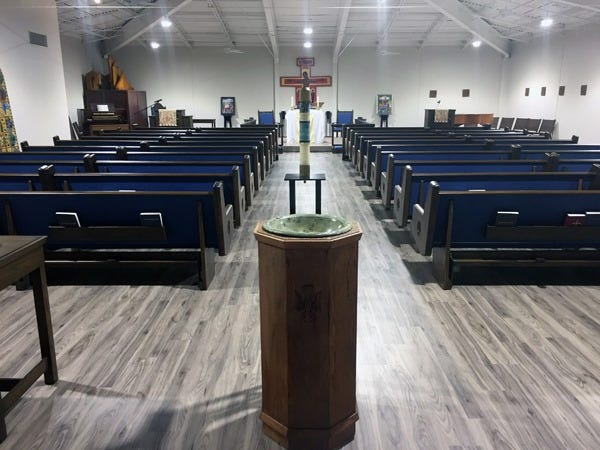 Saint Stephen's Episcopal Church sits vacant after a court ruling evicted the congregation.