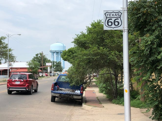 The water tower looks onto Amarillo's stretch of Route 66. Officials are raising funds to have an Amarillo 66 logo painted on the water tower.