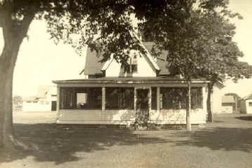 This photo shows one of the Goddard family cottages built on the Pointe Aux Peaux Island, circa 1940's. Descendants of Joseph M. Sterling maintained summer homes in the area for many years until they were demolished in 1971.