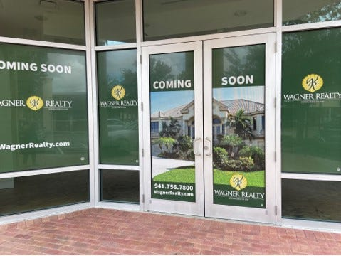 Wagner Realty's new Lakewood Ranch office is a storefront on Lakewood Ranch Main Street.