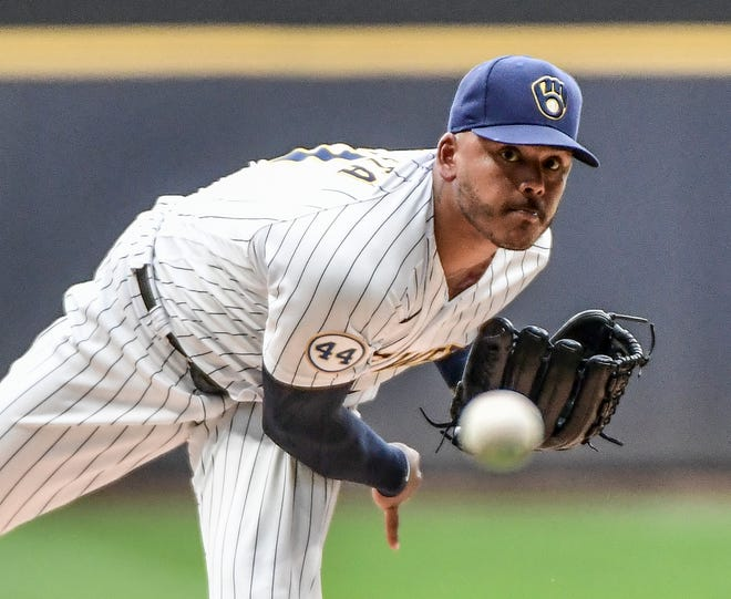 Freddy Peralta will pitch Tuesday on regular rest.