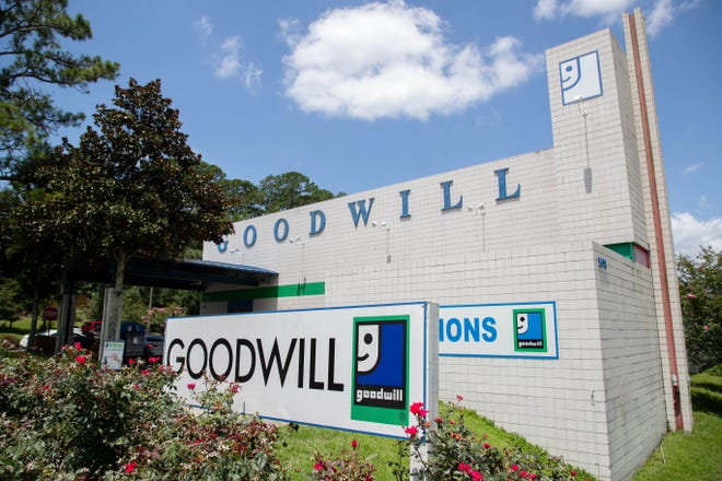 Goodwill on North Monroe Street Sunday, July 11, 2021. Goodwill will have a reopening at its Prosperity Center on Mabry Street on July 23, 2021.