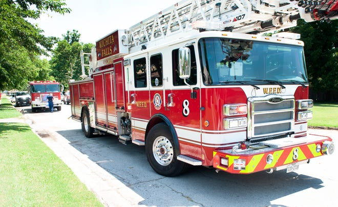 Wichita Falls firefighters worked the scene of a house fire on Fleming Road Sunday afternoon.