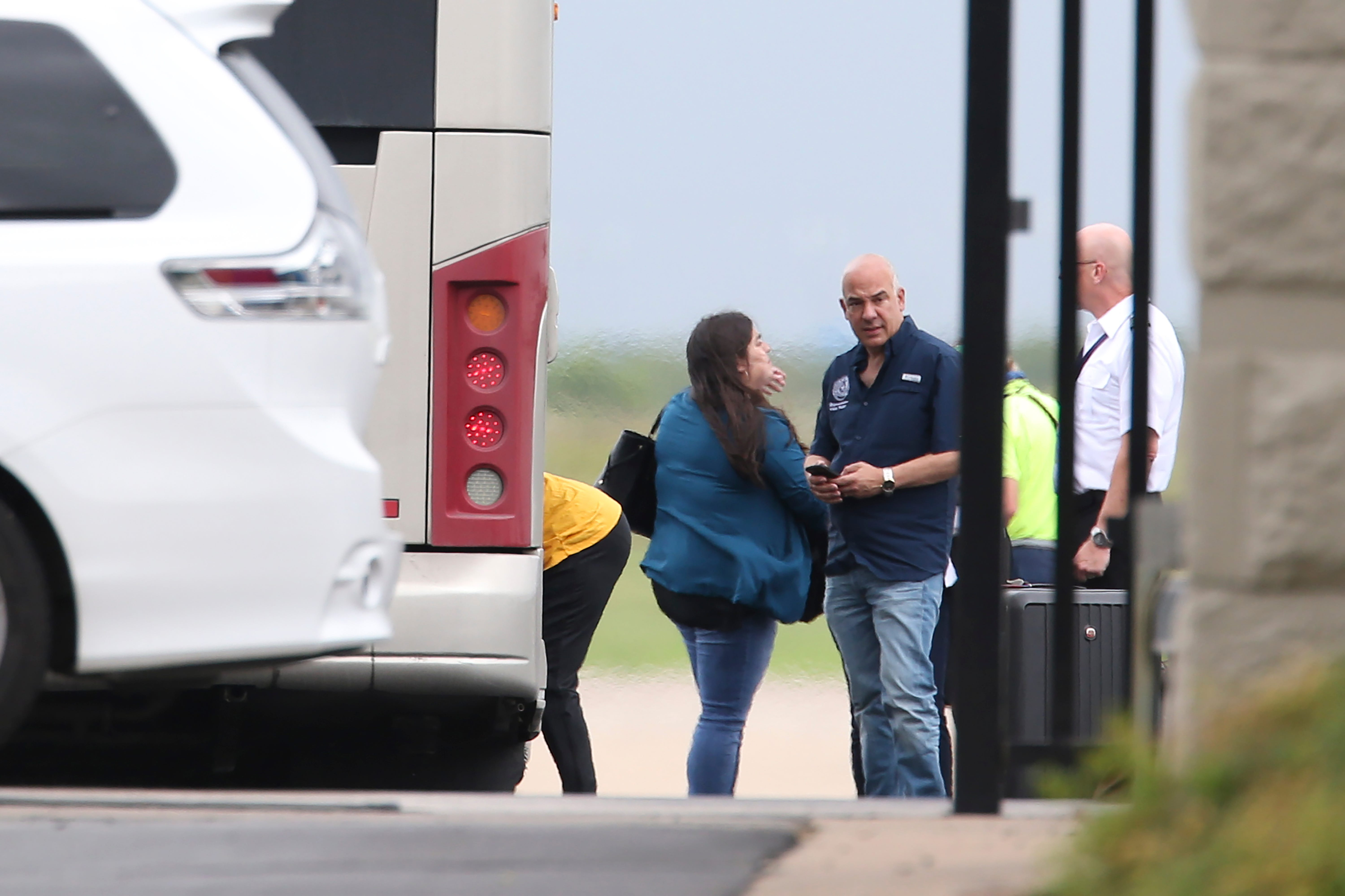 Texas House of Representative Chris Turner, (D-Arlington), arrives at Bergstrom International Airport along with more than 50 Democratic state representatives as they abscond by flying out of Austin, Texas to Washington, D.C. Monday, July 12, 2021.