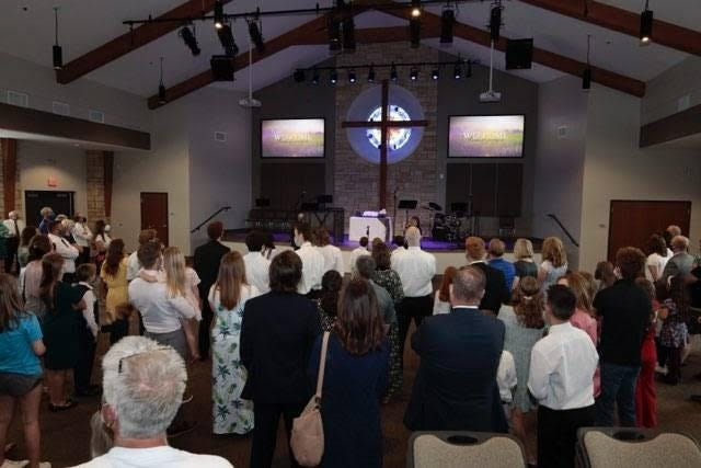 One hundred and fifty members of both congregations gathered for the opening.