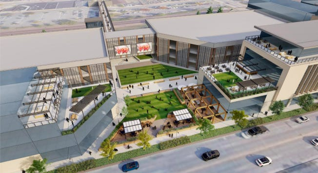 The new development, which will include a full-service hotel, conference and office space and an outdoor plaza will be constructed along Lincoln Way, from Kellogg to Clark avenues.