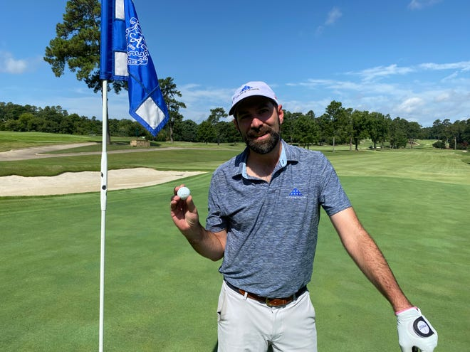 Todd Greene is raising $23,000 for Folds of Honor by playing golf. He completed his fifth, 18-hole round around 10:30 a.m.
