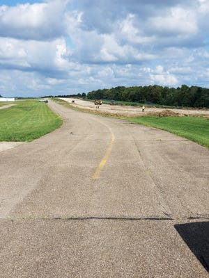 Work is progressing at the Barnesville Bradfield Airport in Barnesville.Shelly & Sands Construction is working to pulverize the old runway surface and preparing the new base for new asphalt.