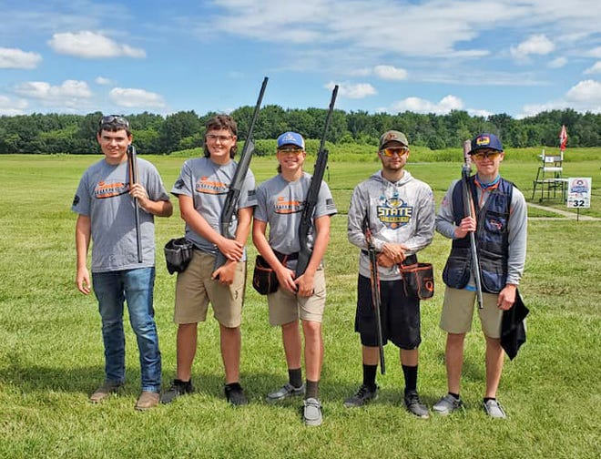 The Quincy Clay Target Shooting team competed at this past weekend's National Championship. Pictured are, in no particular order are the team of Ethan Willison, Brody Fillmore, Brady Ward, Nathan White, and Michael Wendorf.